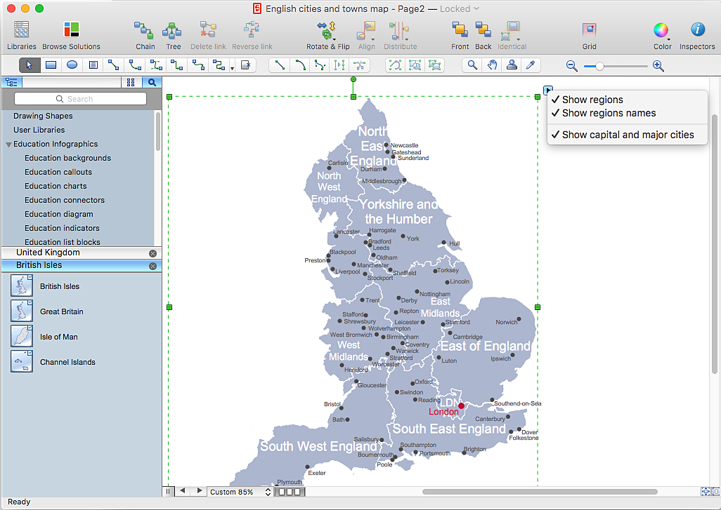 Draw a Map of UK  ConceptDraw HelpDesk