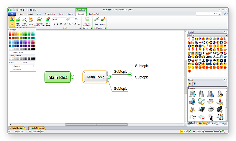 conceptdraw-mindmap-windows-main-idea-main-topic-subtopics