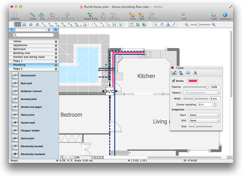 creating a residential plumbing plan conceptdraw helpdesk plumbing line diagrams plumbing get free image about