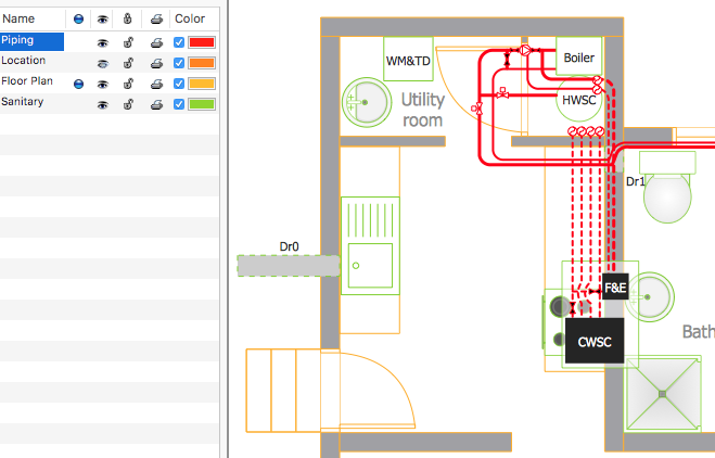 Creating a residential plumbing plan conceptdraw helpdesk for How to draw building plans online