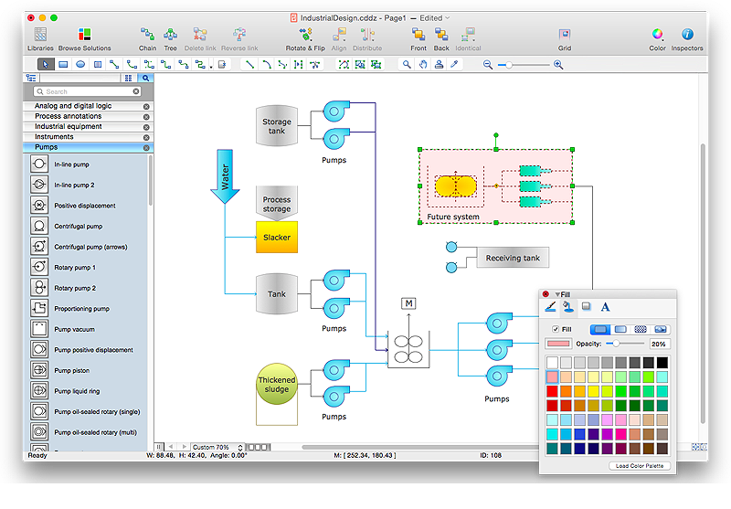 creating a process flow diagram conceptdraw helpdesk rh conceptdraw com draw process flow diagram in powerpoint draw process flow diagram in word