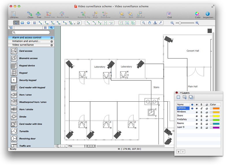 creating a security and access floor plan conceptdraw photo floor plan example images custom illustration sample