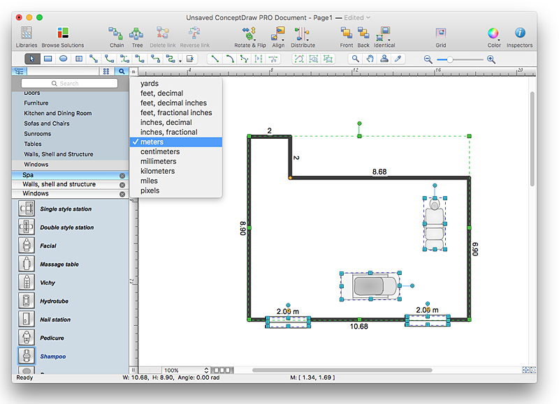 creating a spa floor plan conceptdraw helpdesk floor plan app mac plan home plans ideas picture