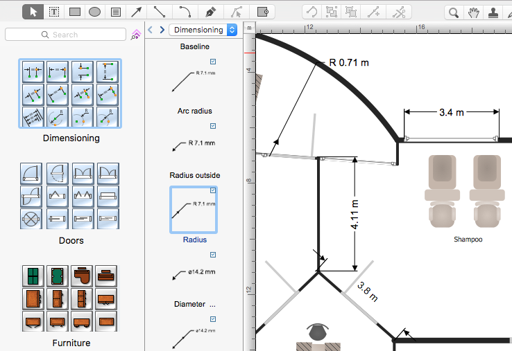 creating a spa floor plan conceptdraw helpdesk create your own salon floor plan free