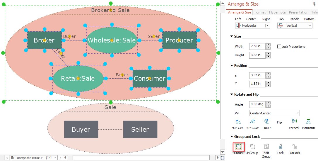 Editing grouped objects on windows conceptdraw helpdesk conceptdraw uml diagram grouped ccuart Image collections