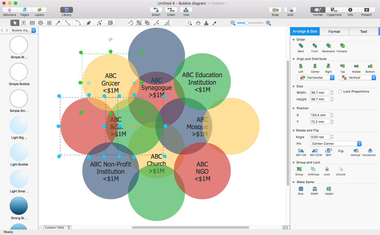 Add A Bubble Diagram To Ms Word