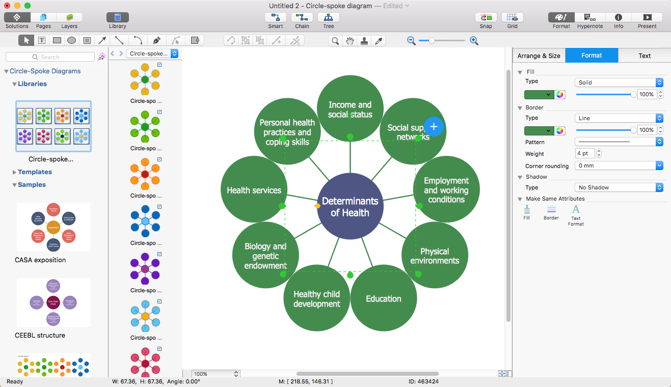 Add a circle spoke diagram to ms word conceptdraw helpdesk circle spoke diagram in ms word ccuart Gallery