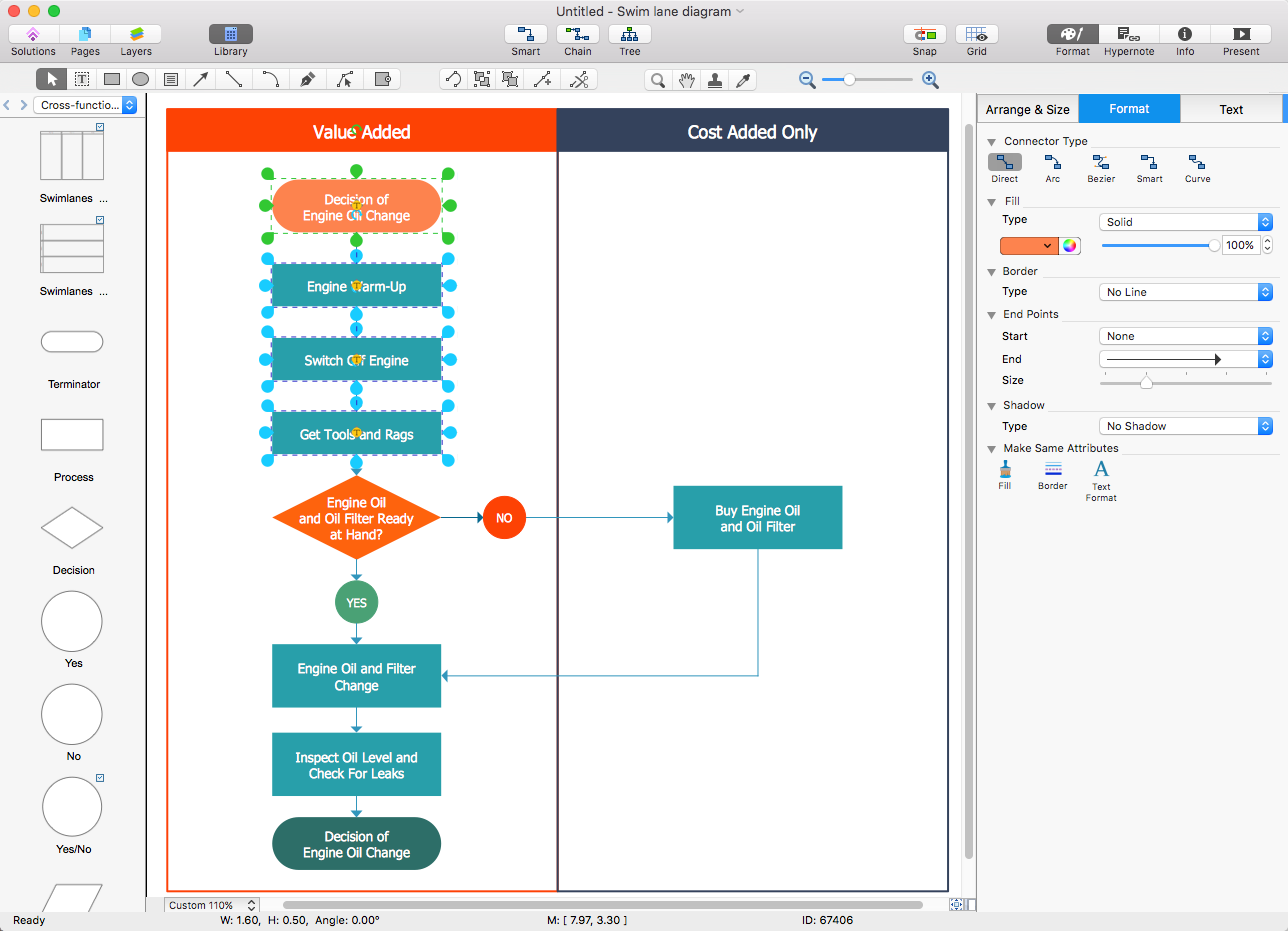 basic flowcharts in microsoft office powerpoint tutorials