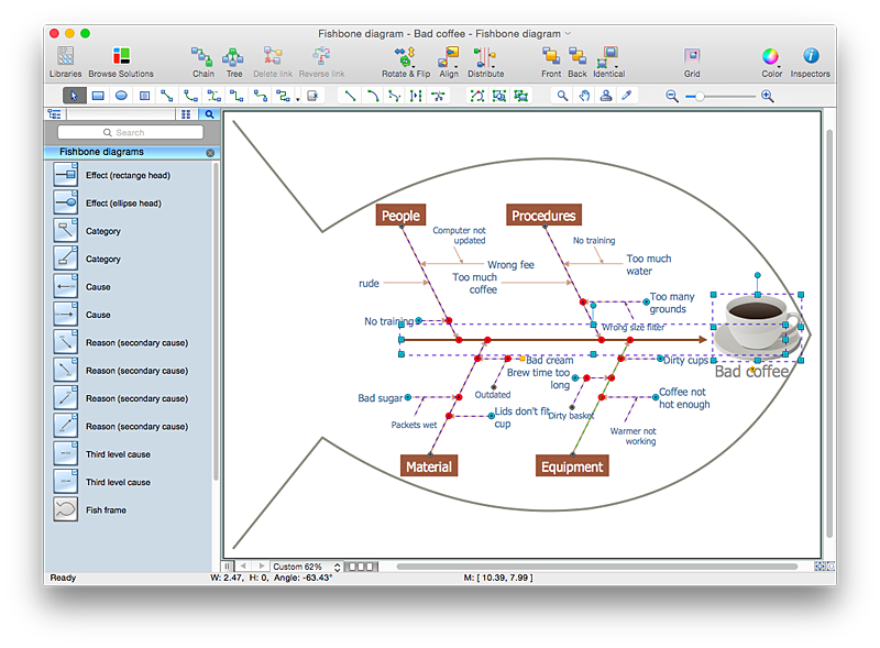 add a fishbone diagram to a ms word document  conceptdraw helpdeskfishbone diagram conceptdraw