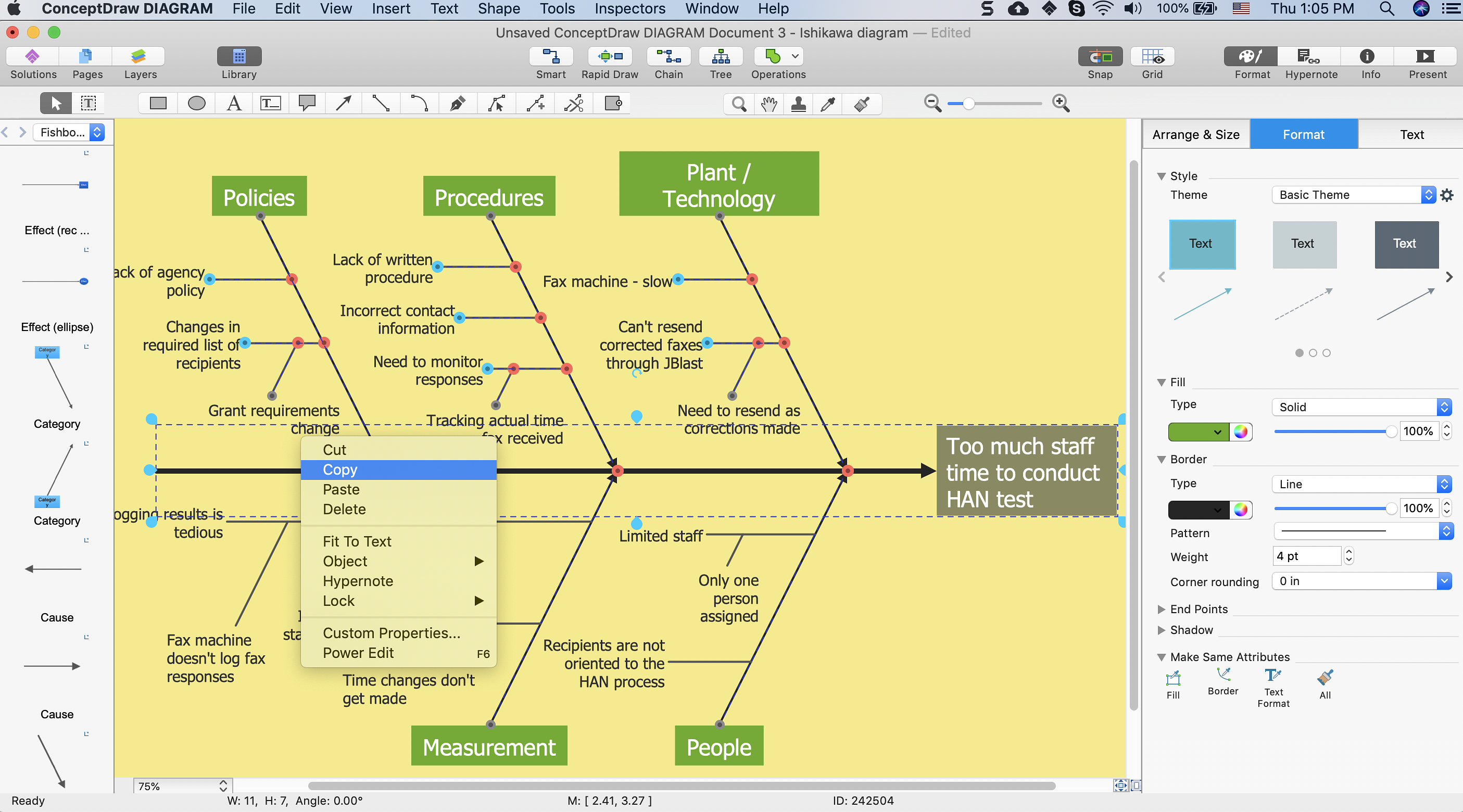 Add A Fishbone Diagram To Ms Word Conceptdraw Helpdesk