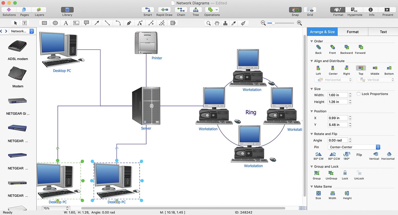 Add A Computer Network Diagram To Ms Word Conceptdraw Helpdesk