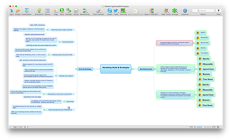 insert mind map into ms word file