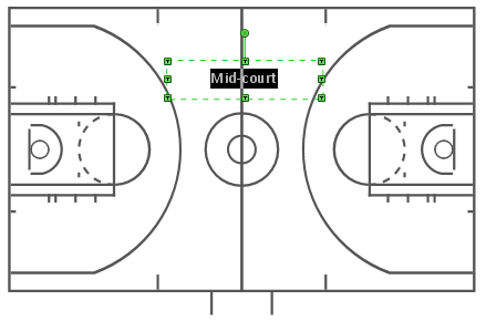 Create basketball court diagram conceptdraw helpdesk for Basketball court design template
