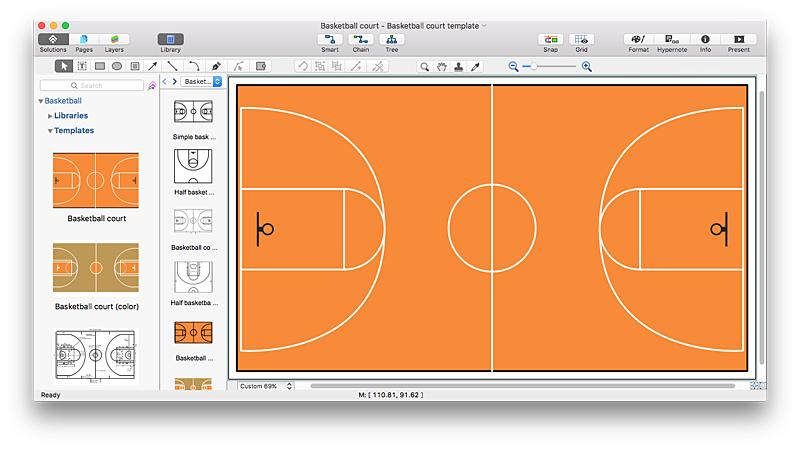 Create Basketball Court Diagram Conceptdraw Helpdesk