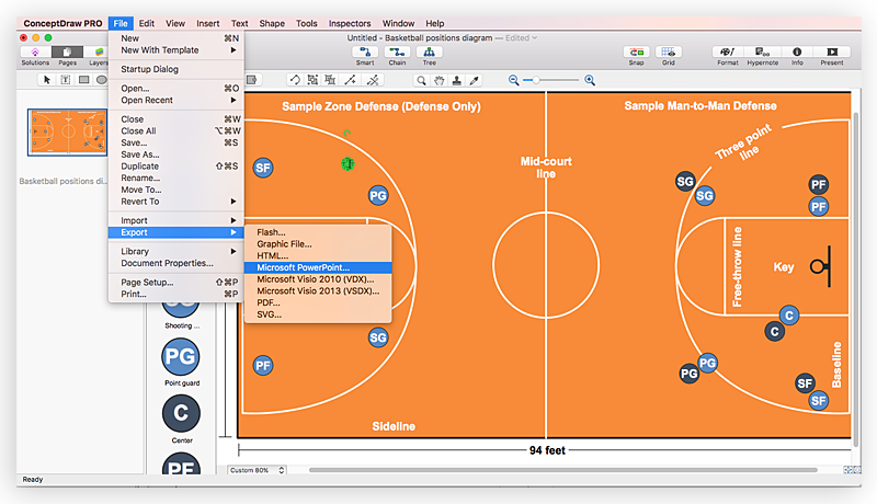 create basketball court diagram