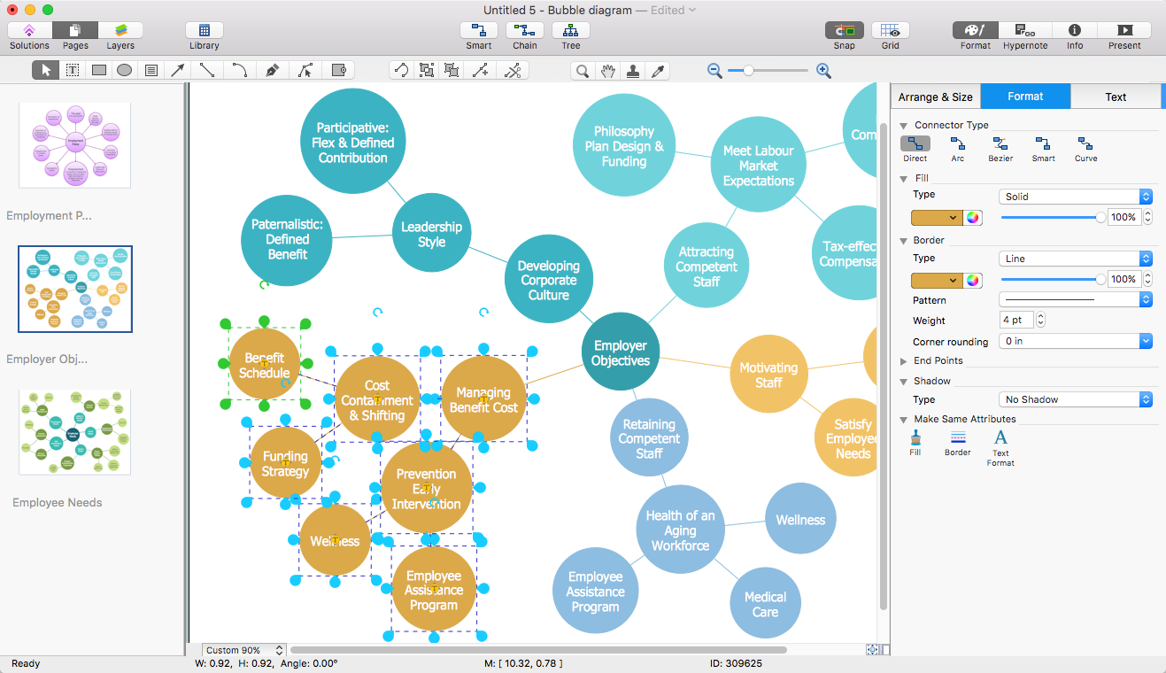 Create powerpoint presentation with a bubble diagram conceptdraw bubble diagram powerpoint ccuart Choice Image