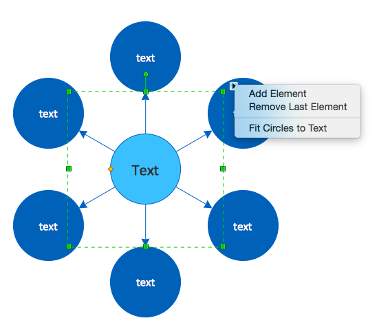 Circle-Spoke Diagram menu