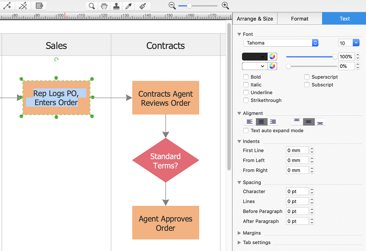 Create Powerpoint Presentation With A Cross Functional Flowchart Make Of Block Diagram Using Conceptdraw