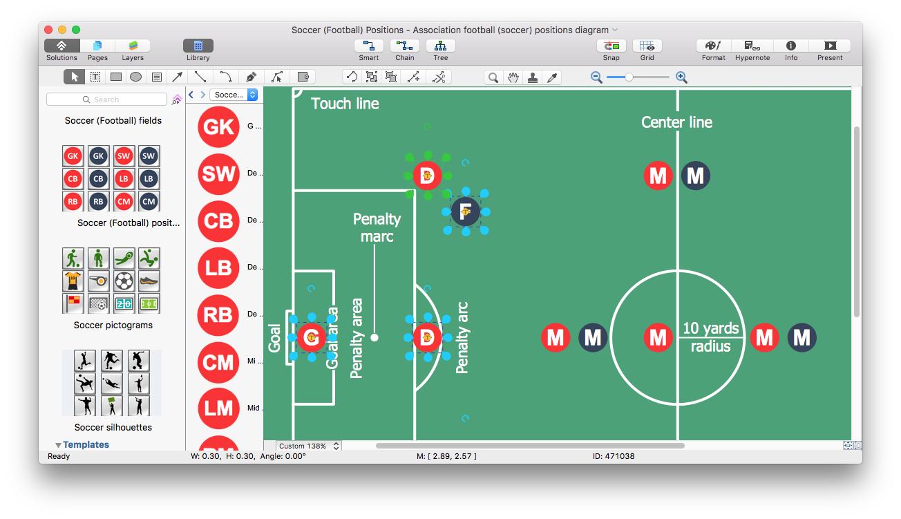 Create Soccer Position Diagram