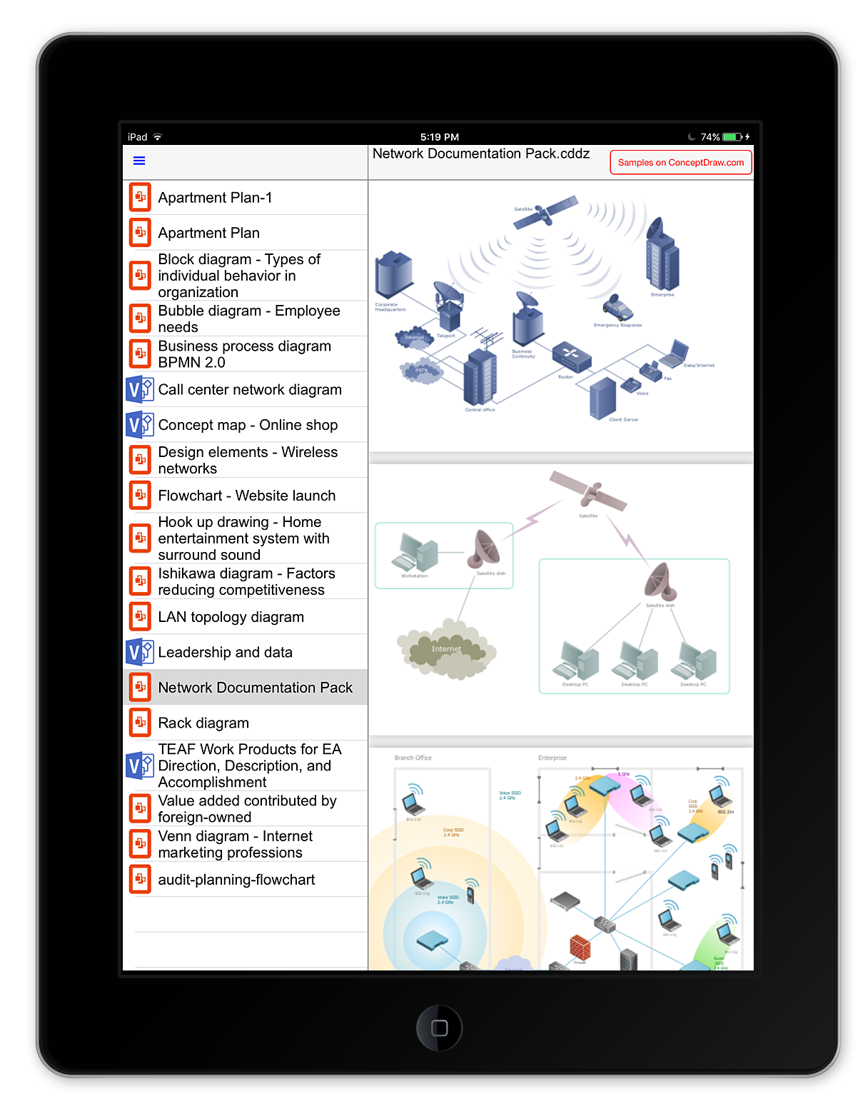 view-network diagrams-on-ipad