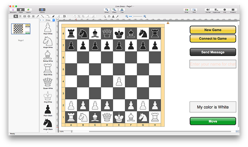 Playing Chess Online | ConceptDraw HelpDesk