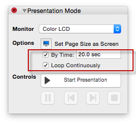 set-conceptdraw-presentation-options
