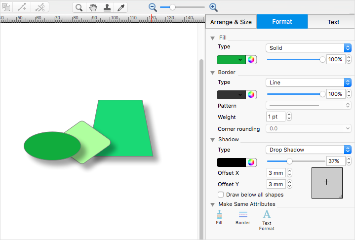 ConceptDraw drawing effects - shadow