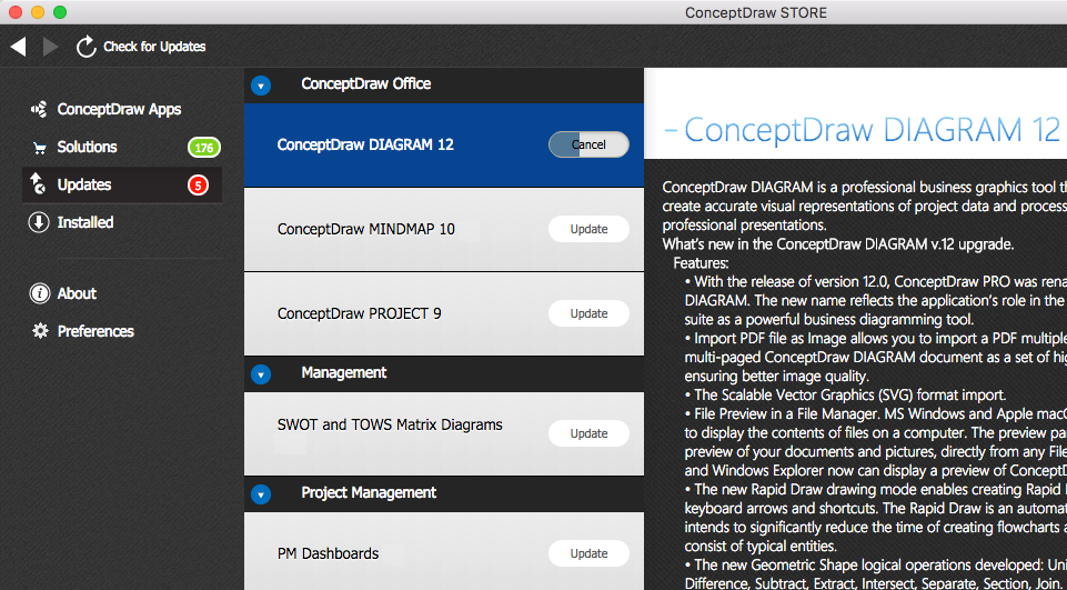update-conceptdraw-software