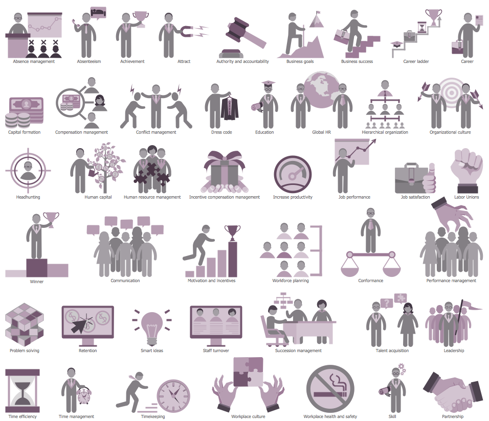 HR Symbols Library Design Elements