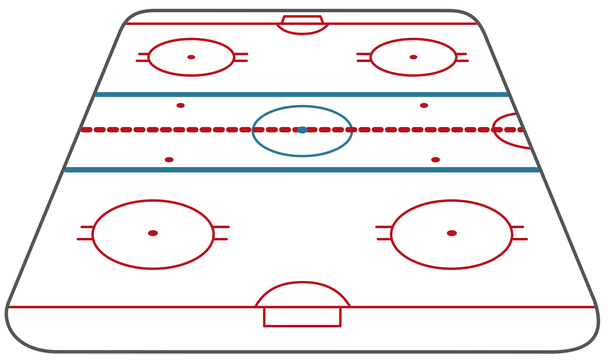 Ice Hockey Rink – Short Side View – Template