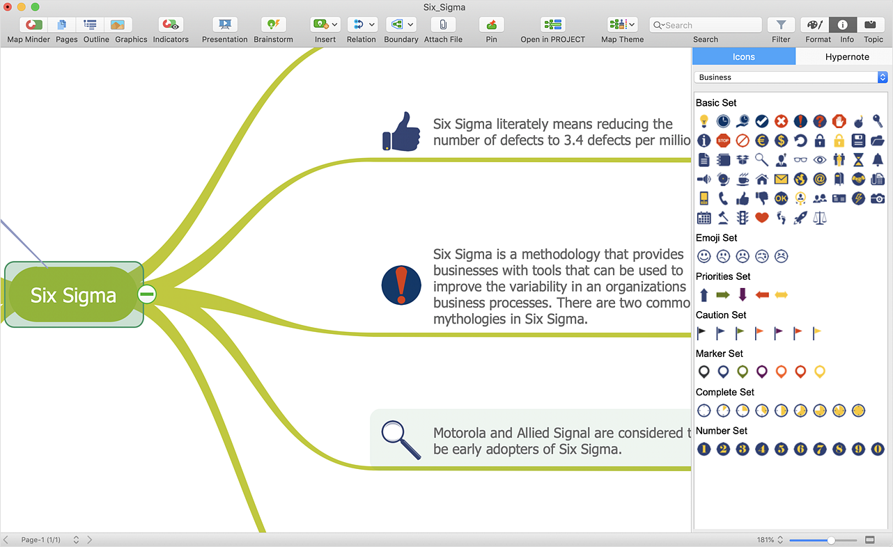 Import a  PowerPoint Presentation to ConceptDraw MINDMAP