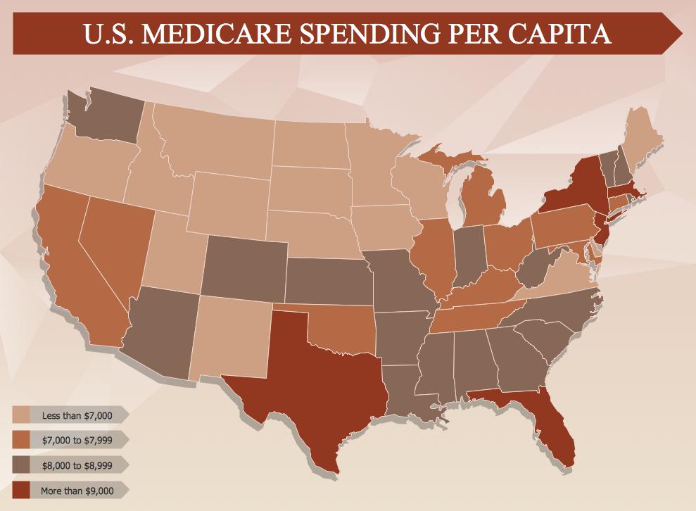 Management Infographic Examples - US Medicare Spending Per Capita