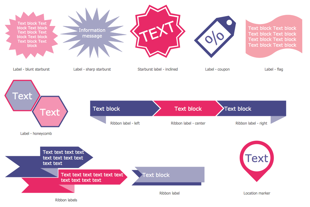 Typography Infographics — Labels Design Elements