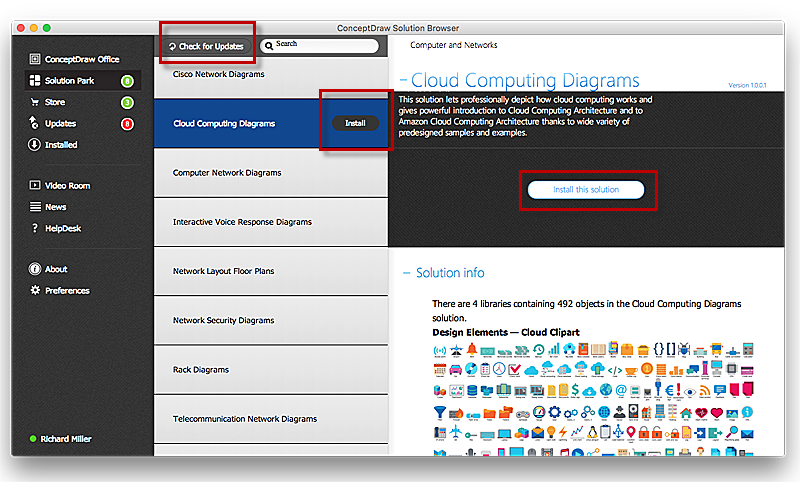 Download and Install paid solution from ConceptDraw Solution Park