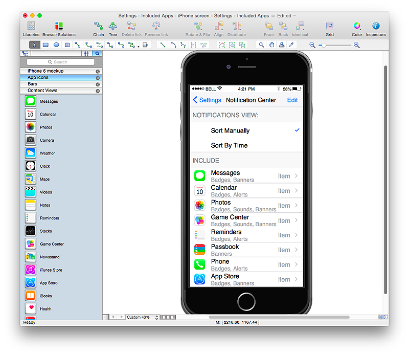 Developing An Interface Mockup For Iphone App