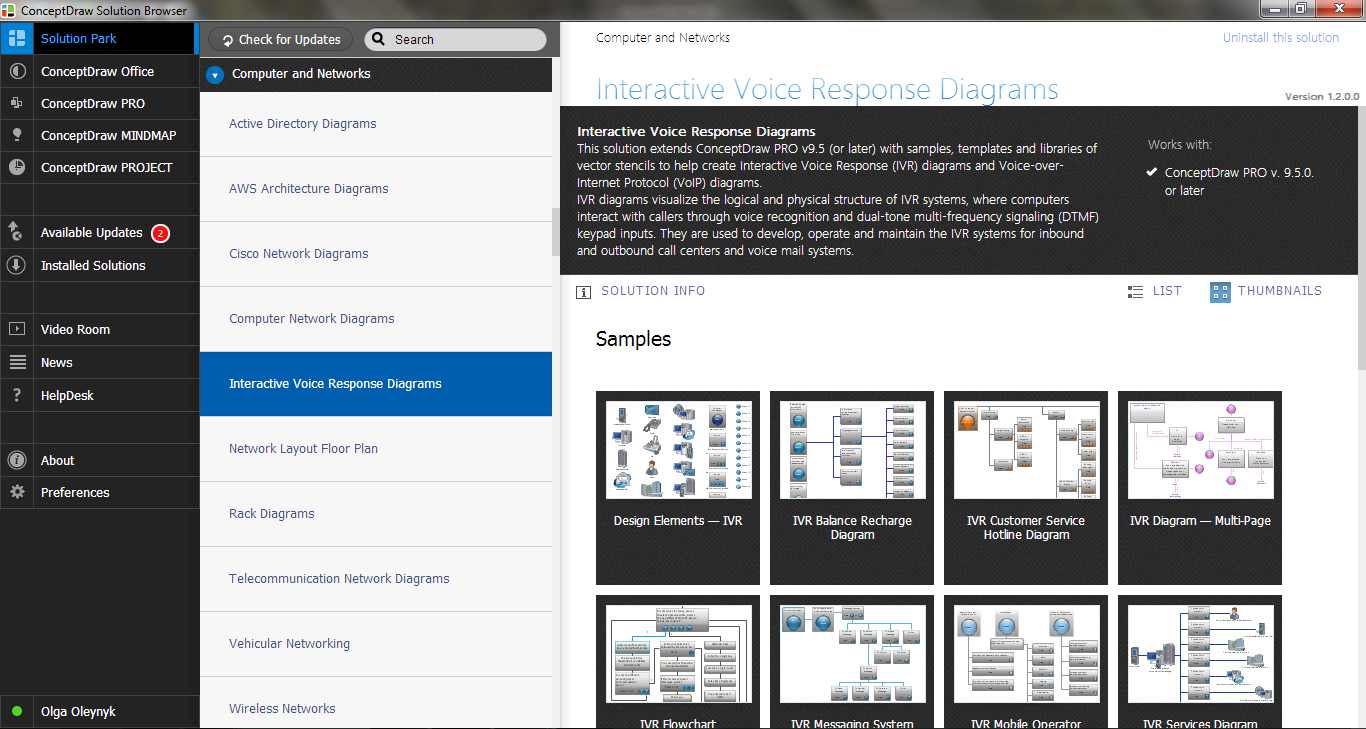 Interactive Voice Response Diagrams Solution in Solution Browser