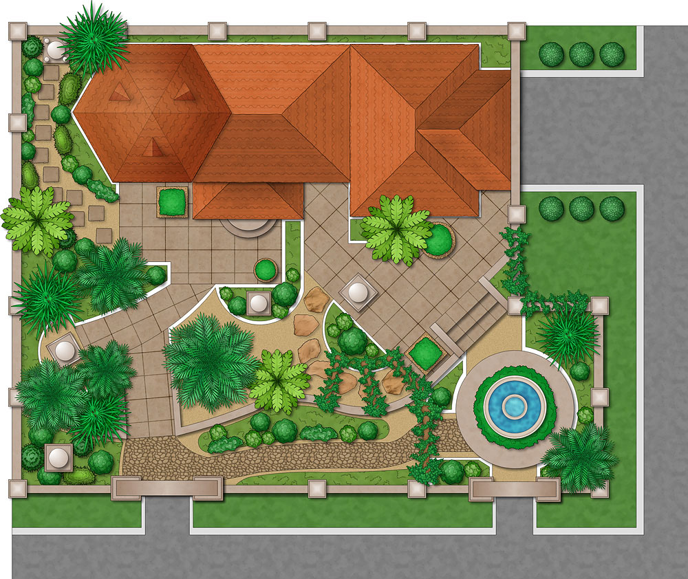 Landscape design software for mac pc garden design for Garden landscape drawing