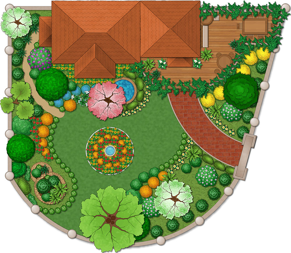 Backyard Landscape Design Software Free free landscaping software reviews of software programs Original Free Landscape Design Programs Include Smartdraw The Dreamplan Home Design Software Provides A Realistic 3d Model For Planning Exterior Landscaping