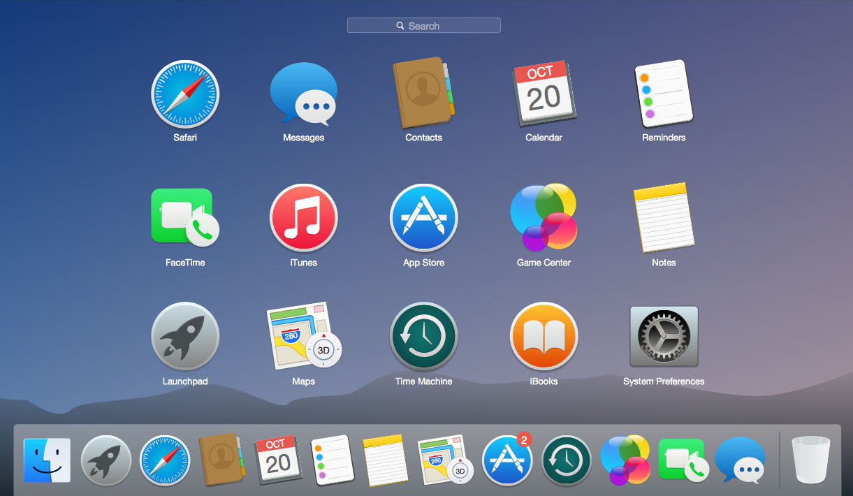 Mac OS User Interface Solution - OS X 10.10 Yosemite Apps