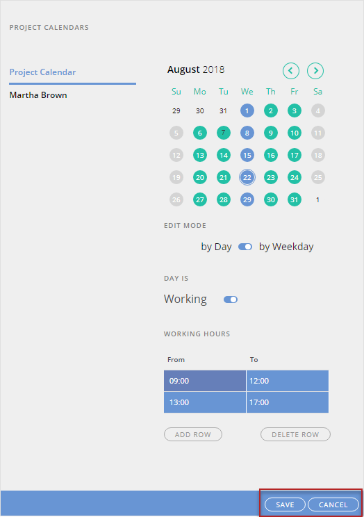 How to Manage an Individual Resource Calendar *