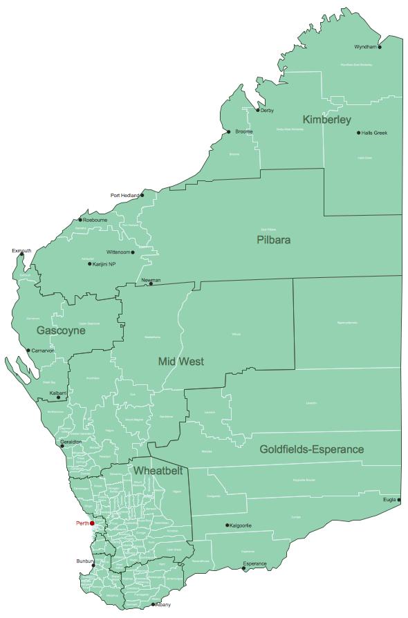 Western Australia Local Government Areas