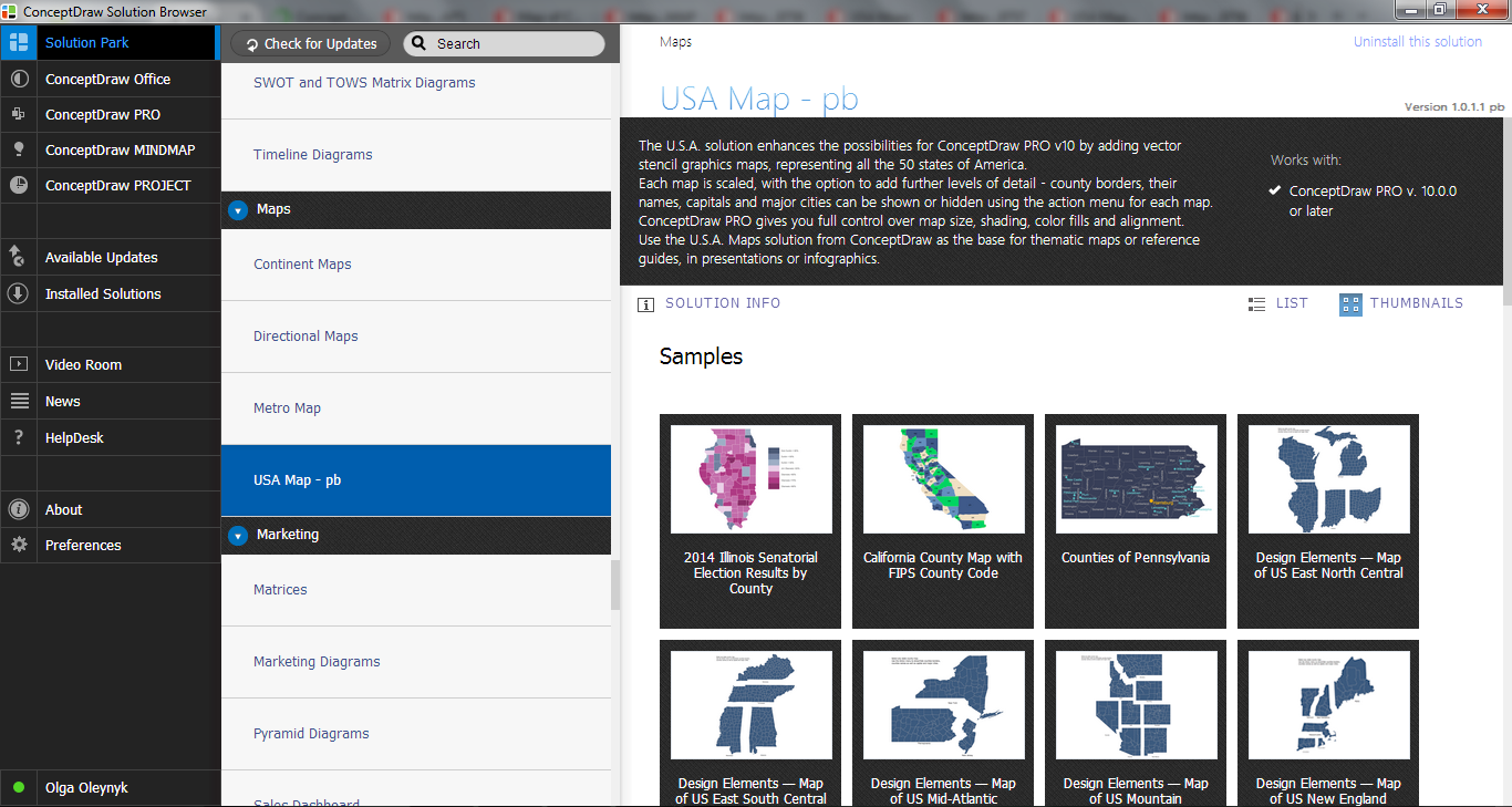 Usa Maps Solution In Conceptdraw Store