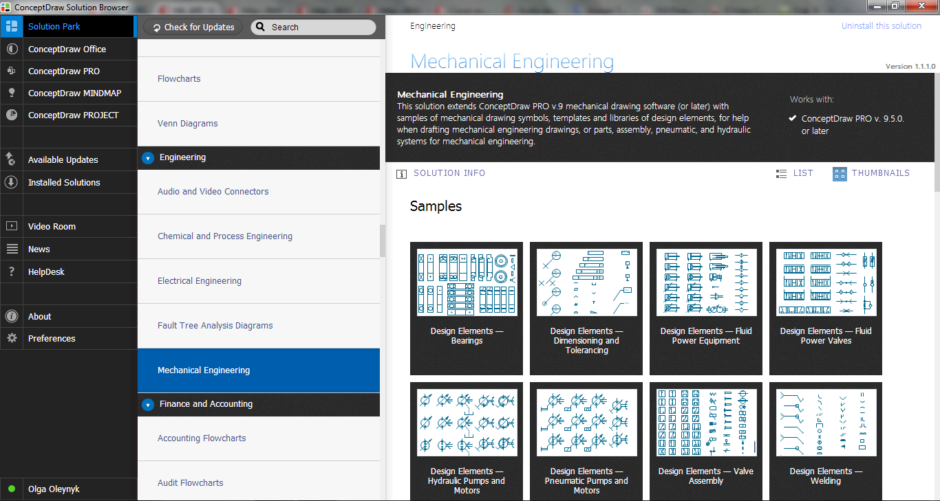 Mechanical Engineering Solution in ConceptDraw STORE