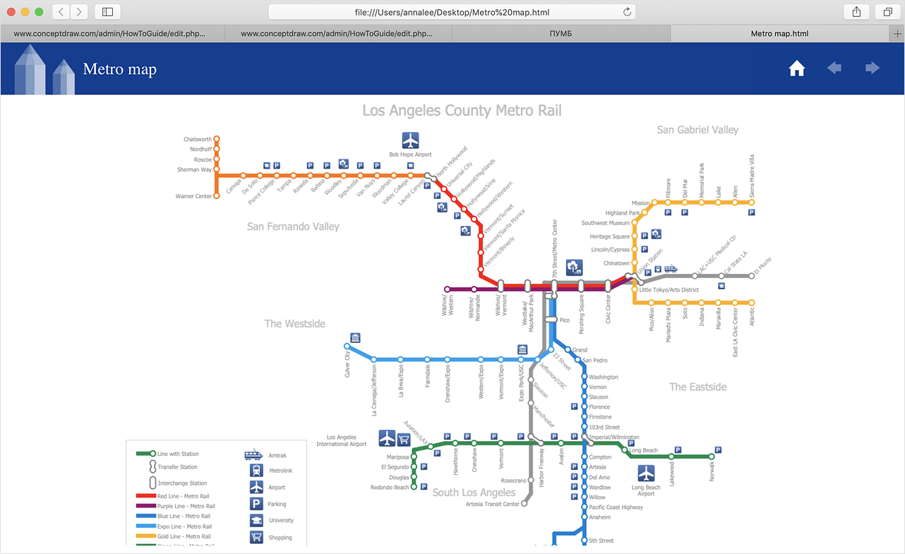 How to Make a Web Page from Your Metro Map