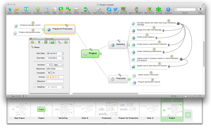 ConceptDraw MINDMAP :<br>Brainstorming, Mind Mapping <br>for  macOS and Windows *