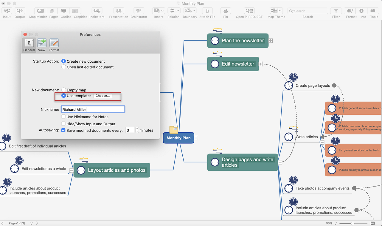 Start Mind Mapping from a Custom Template