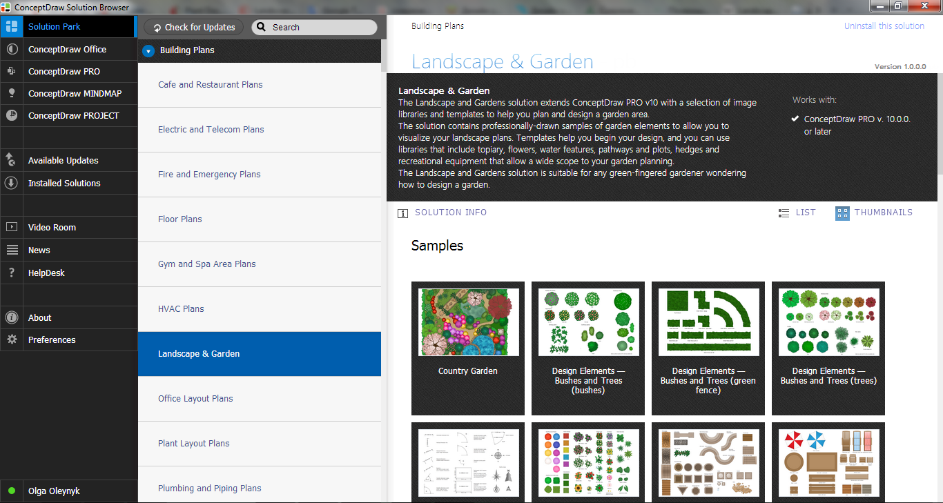 Landscape & Garden Solution in ConceptDraw STORE