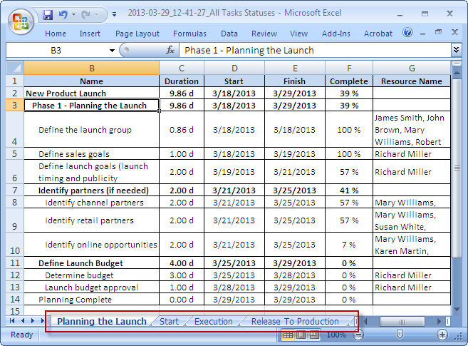 ms project export to pdf one page