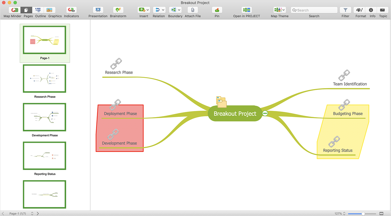 How to Split a Complex Mind Map to a Few Simple Maps
