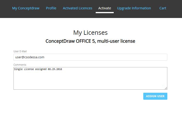 ConceptDraw multi-user license management